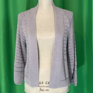 NWOT Lucky Brand Open-Front Cable Knit Cardigan
